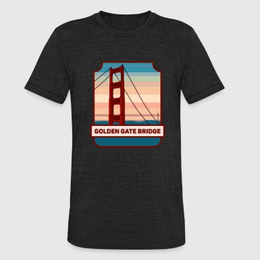 Golden Bridge Golden Gate Bridge - Unisex Tri-Blend T-Shirt