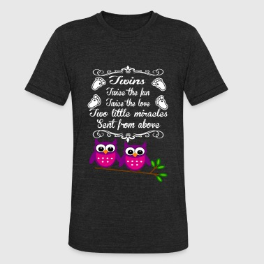 Twins - Twice the fun twice the love - Unisex Tri-Blend T-Shirt