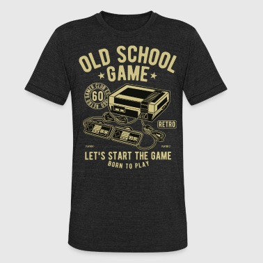 Old School Game - Unisex Tri-Blend T-Shirt
