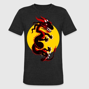 Dragon Body Black Dragon - Unisex Tri-Blend T-Shirt