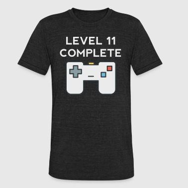 Level 11 Complete 11th Birthday - Unisex Tri-Blend T-Shirt