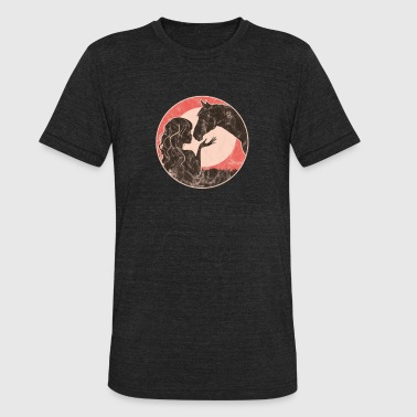 Girl And Horse - Unisex Tri-Blend T-Shirt