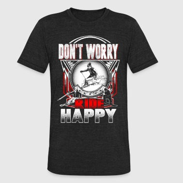 Ski happy - Unisex Tri-Blend T-Shirt