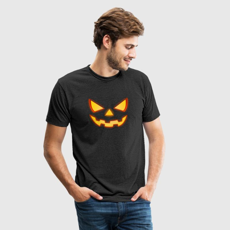 Scary Halloween Horror Pumpkin Face - Unisex Tri-Blend T-Shirt
