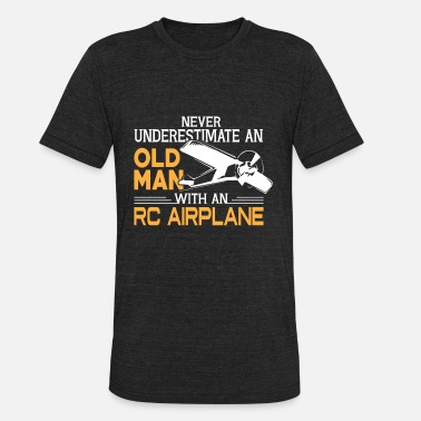 Old Airplane Old Man With An RC Airplane T Shirt - Unisex Tri-Blend T-Shirt