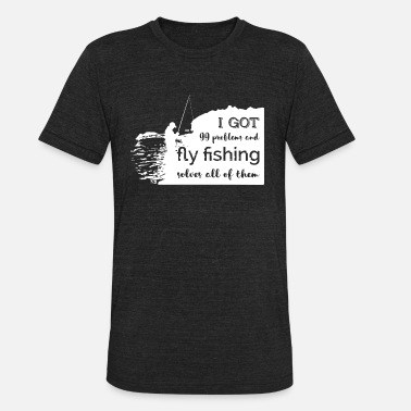 Flying Kiss Fly Fishing t shirt - Unisex Tri-Blend T-Shirt