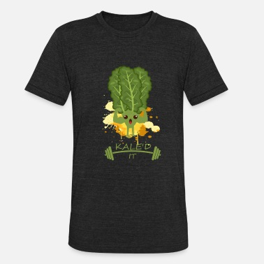 Kale Yale Kaled It Kale Art for Vegans Vegetarians on Diet Dark - Unisex Tri-Blend T-Shirt