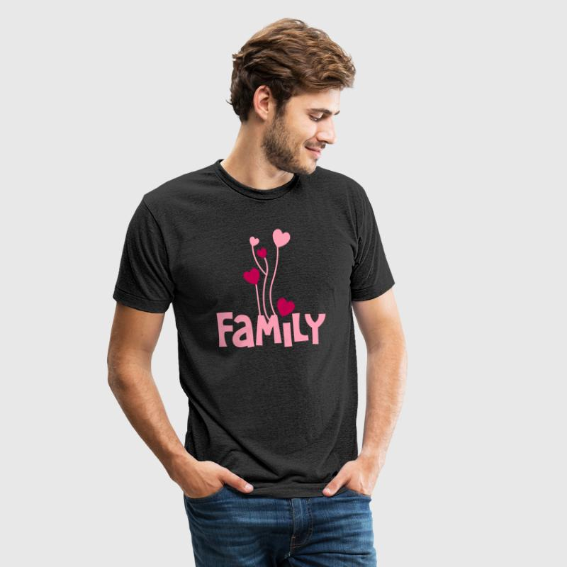 family word with lovely love heart balloons - Unisex Tri-Blend T-Shirt