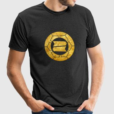 Hattori clan kamon in gold - Unisex Tri-Blend T-Shirt