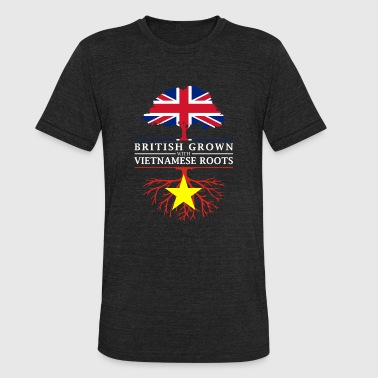 Vietnamese Roots British Grown with Vietnamese Roots Vietnam Design - Unisex Tri-Blend T-Shirt