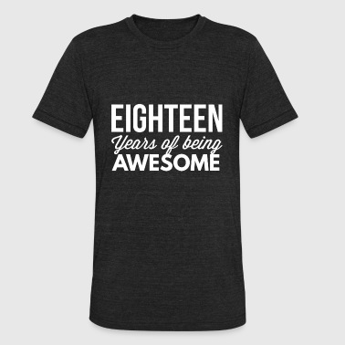 18 Years Of Awesome 18 years of being awesome - Unisex Tri-Blend T-Shirt