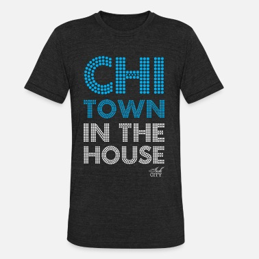 V Neck Unisex Unisex: Chi-Town in the house Vintage T - Unisex Tri-Blend T-Shirt