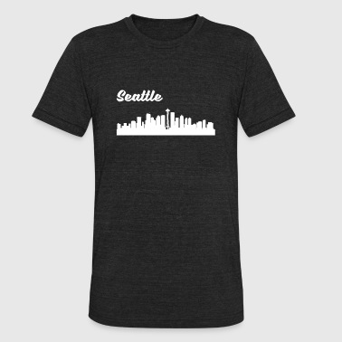 Seattle Skyline Seattle WA Skyline - Unisex Tri-Blend T-Shirt