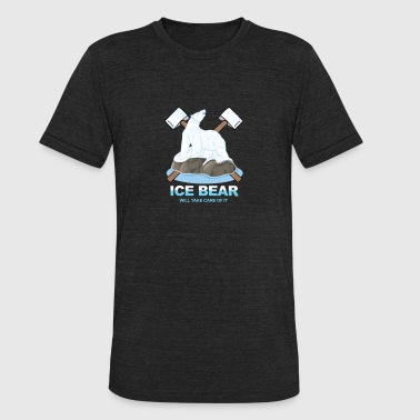 Ice Bear-Polar Bear - Unisex Tri-Blend T-Shirt