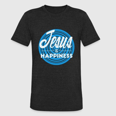 Jesus is Happiness - Unisex Tri-Blend T-Shirt