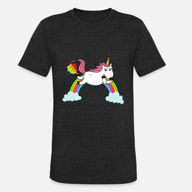 Unicorn Rainbow Fart Farting Unicorn Rainbow - Unisex Tri-Blend T-Shirt