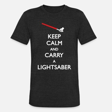 Carry On Films Carry Lightsaber Red - Unisex Tri-Blend T-Shirt