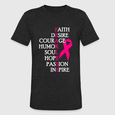 Breast Cancer - Fearless Breast Cancer Awareness - Unisex Tri-Blend T-Shirt