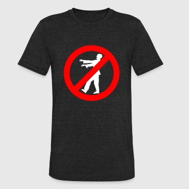 Zombie - No Zombies - Unisex Tri-Blend T-Shirt