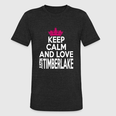 Justin Justin TIMBERLAKE - KEEP CALM AND LOVE justin TI - Unisex Tri-Blend T-Shirt