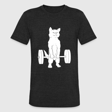 Powerlifting - Cat Deadlift Powerlifting - Unisex Tri-Blend T-Shirt