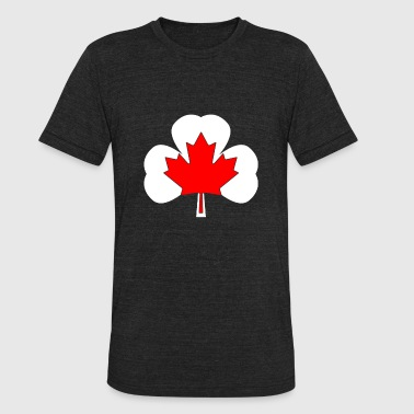 T-shirt for Canadian Irish people - Unisex Tri-Blend T-Shirt