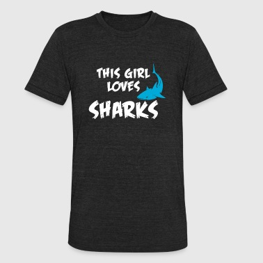 Hammerhead Shark Underwater Shark - this girl loves sharks - Unisex Tri-Blend T-Shirt