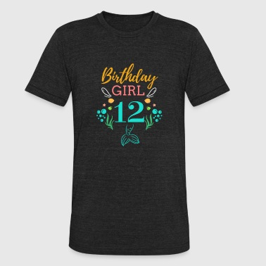 Birthday Girl 12 12 Birthday Girl Six 12th Birthday Boy Girl Kids - Unisex Tri-Blend T-Shirt