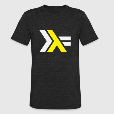 Haskell Logo on Black Shirt - Unisex Tri-Blend T-Shirt