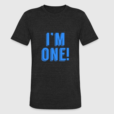 Im One Birthday I'm One! First Birthday - Unisex Tri-Blend T-Shirt
