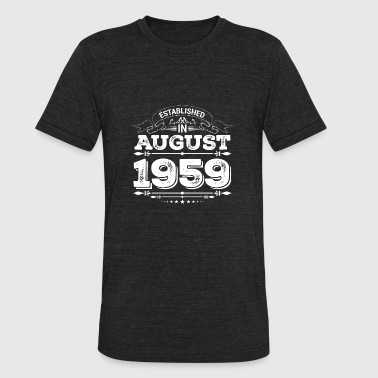 August 1959 Established in August 1959 - Unisex Tri-Blend T-Shirt