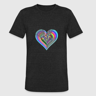 Share The Love LOVE - Unisex Tri-Blend T-Shirt