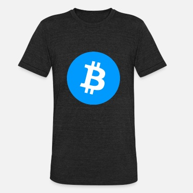 Bitcoin Logo Symbol Cryptocurrency Crypto Coin - Unisex Tri-Blend T-Shirt