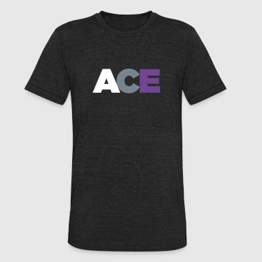 Asexual Flag ACE - Asexual Pride Flag Colors - Unisex Tri-Blend T-Shirt