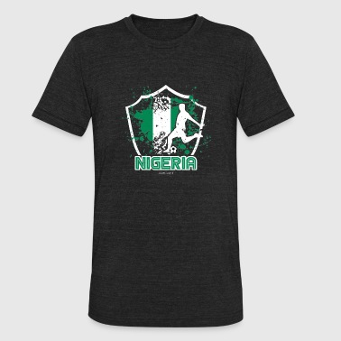 Football Soccer Nigeria Flag - Unisex Tri-Blend T-Shirt