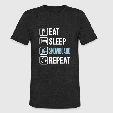 Eat Sleep Snowboard Repeat - Unisex Tri-Blend T-Shirt