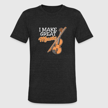 Make Music I make great music - Unisex Tri-Blend T-Shirt