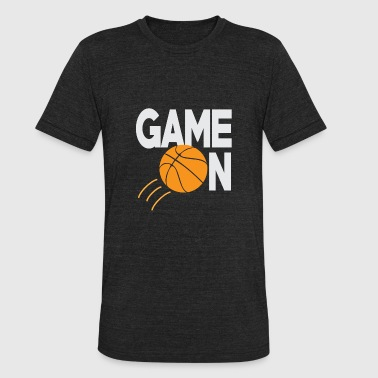Basketball Game on - Unisex Tri-Blend T-Shirt