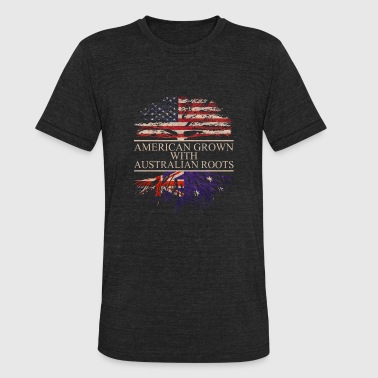 american grown with australian roots vintage - Unisex Tri-Blend T-Shirt