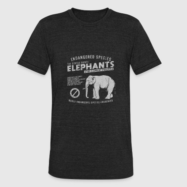 Endangered Elephants - Unisex Tri-Blend T-Shirt