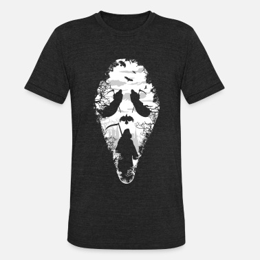 Scary Halloween Reaper Screams | Scary Halloween - Unisex Tri-Blend T-Shirt