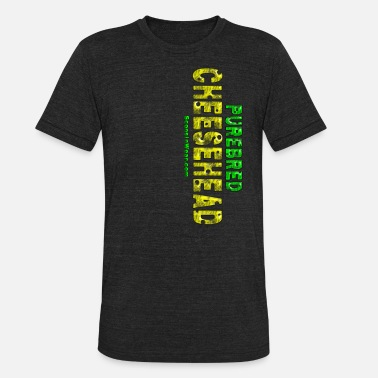 Sconnie Purebred Cheesehead Tank Tops - Unisex Tri-Blend T-Shirt