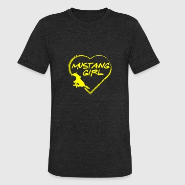 1967 Ford Mustang Mustang girl - Mustang girl's heart awesome tee - Unisex Tri-Blend T-Shirt