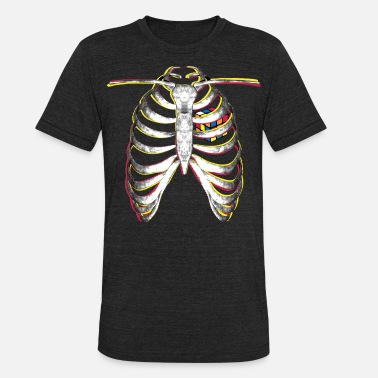 Melting Rubik's Cube Colourful Ribcage - Unisex Tri-Blend T-Shirt