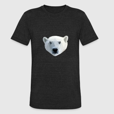 2d Design Polar Bear - Low Poly 2D - Unisex Tri-Blend T-Shirt
