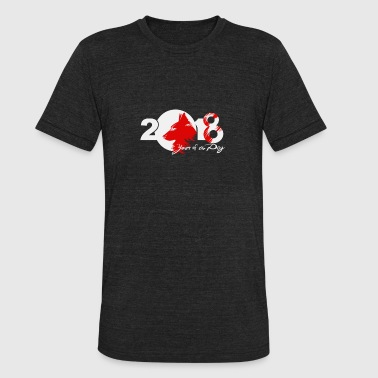 New Year Design new design Year of the Earth Dog - Unisex Tri-Blend T-Shirt