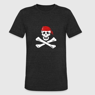 jolly roger pirate - Unisex Tri-Blend T-Shirt