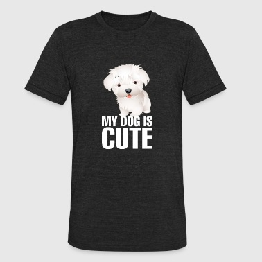 My_dog_is_cute_9_white - Unisex Tri-Blend T-Shirt