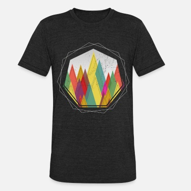 Forest Dweller Minimal Geometric Forest Outdoor Nature Gift - Unisex Tri-Blend T-Shirt