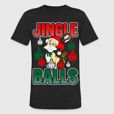 Cat Playing Jingle Balls Tshirt - Unisex Tri-Blend T-Shirt